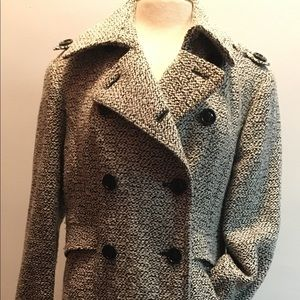 Vintage wool blend trench coat.